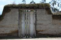 Wood Gate in Adobe Wall