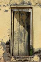 Weathered Yellow Door