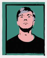 Andy Warhol Self-Portrait 1964 On Green - Stamp