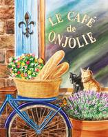 Bicycle Basket Window With Shutters And Cats