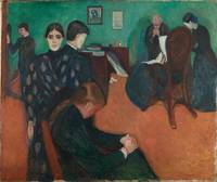 Death in the sick room by Edvard Munch (1895)