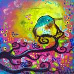 """""""Bird I~Pink Morning"""" by juliryan"""