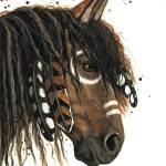 """Curly Horse"" by AmyLynBihrle"
