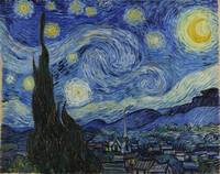 Starry night by Vincent Van Gogh (1889)