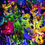"""Colorful Delphinium Dream"" by Groecar"