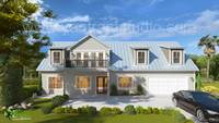 3D Exterior House Design and Rendering