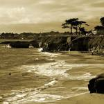 """Golden Santa Cruz Beach"" by Groecar"