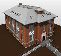 Exterior Architectural BIM Topview OF House