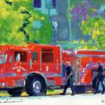 """Firetruck Engine #3 By RD Riccoboni"" by RDRiccoboni"