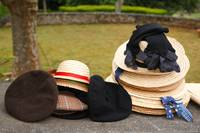 Straw hats and berets