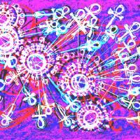 Purple Ursa Major Ankh Rays Art Prints & Posters by Tufani Mayfield