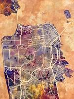 San Francisco City Street Map