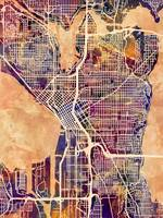 Seattle Washington Street Map