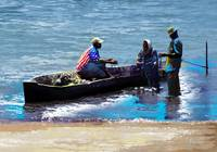 Repairing the Net at Lake Victoria