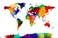 Map of the World Map Painting