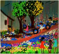 Down Bayou Lane (Primary Colors)