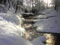 pudden brook in winter