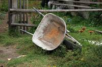 Wheelbarrow on a Farm