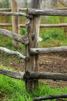 Wooden Fence on a Farm