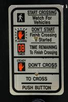 Crosswalk Instruction Sign