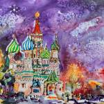 """Moscow Russia Saint Basils Cathedral"" by GinetteCallaway"