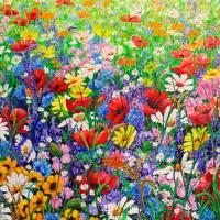 WILD FLOWER MEADOW Art Prints & Posters by KARIN DAWN BEST