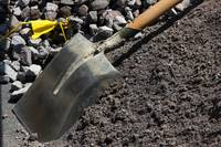 Shovel at a Construction Site