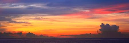 Dawn Sky Panorma Bahamas Sea