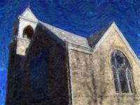 Impressionist Painting of Church