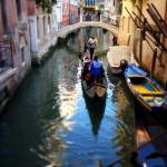"""A canal,a gondola, and a bridge"" by sylviacook"