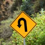 """Sharp Left Curve Sign"" by rhamm"