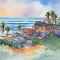Coastal Bungalows Art Prints & Posters by Bill Drysdale