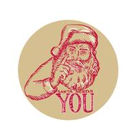 Santa Claus Needs You Pointing Etching