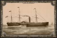 Steamship on Sea. Age of Steam #011