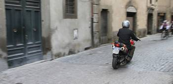 Motorcycle rider in Italy