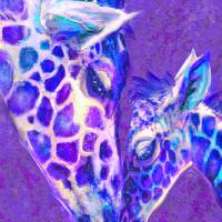 giraffe love 515 Art Prints & Posters by Jane Schnetlage