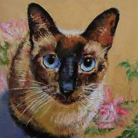 """Siamese Cat"" by Michael Creese"
