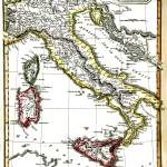 """Antique Map Of Italy From 1820"" by WilshireImages"