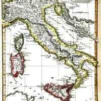 Antique Map Of Italy From 1820 Art Prints & Posters by Phil Cardamone