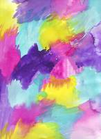 Watercolors Pink Blue Purple Yellow