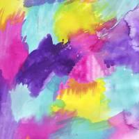 Watercolors Pink Blue Purple Yellow Art Prints & Posters by Valerie Waters