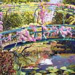 """381 THE FOOTBRIDGE AT GIVERNY fa"" by DavidLloydGlover"