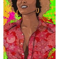 The Radiance of Pam Grier Art Prints & Posters by Todd Bane