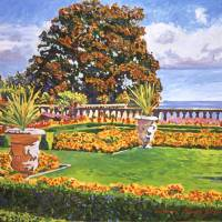 ITALIAN GARDENS OCEAN VIEW Art Prints & Posters by David Lloyd Glover