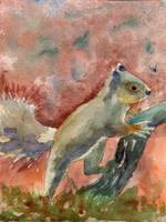 Animal Art | watercolor | Nutella the Squirrel