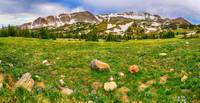 Medicine Bow Mountain Range Panorama