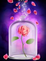 ENCHANTED ROSE ROMANCE BACKGROUND