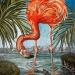 """Flamingo Beach"" by AlmaLee"