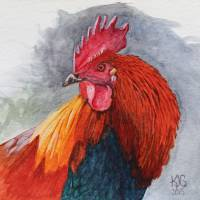 Rooster Art Prints & Posters by Kelley Gruver