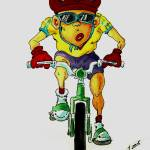 """Bicycle Rider"" by cneartgallery"